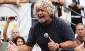 Five-Star Movement activist and comedian Grillo