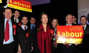 Labour candidate Sarah Champion celebrates her victory in the Rotherham by-election at the Magna Science Centre, Rotherham.