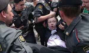 Gay pride parade in Moscow