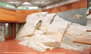 view of the 'whale rock' that extends 20m into the house