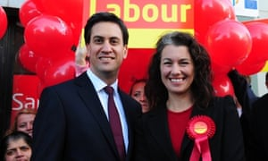 Ed Miliband and Sarah Champion, who was elected as Labour MP for Rotherham last night, when they met on the campaign trail last week.