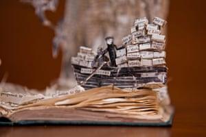 Book sculpture: Compton Mackenzie's Whisky Galore