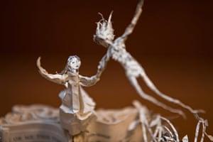 Book sculpture: JM Barrie's Peter Pan