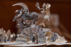 Book sculpture: Robert Burns poem Tam O'Shanter