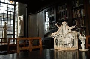Book sculptures in situ: Alasdair Gray's Lanark at Glasgow School of Art's Mackintosh Library