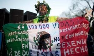 Anti-violence protest in Mexico City