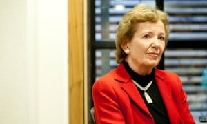Mary Robinson, former President of Ireland and statesman