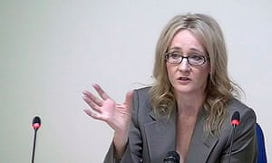 Author JK Rowling speaks at the Leveson Inquiry