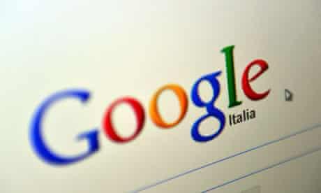 A computer screen showing Google's logo