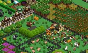 Farmville. Screenshot from a hi-res screen