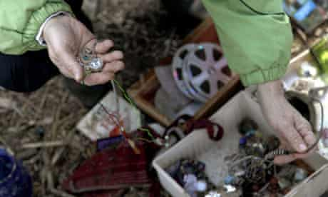 Jewellery found in the ruins of a Staten Island home after Sandy passed through