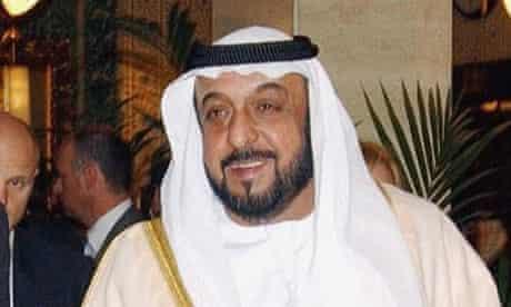 UAE president Sheikh Khalifa bin Zayed al-Nahyan