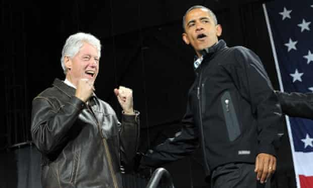 Obama and Clinton in Virginia