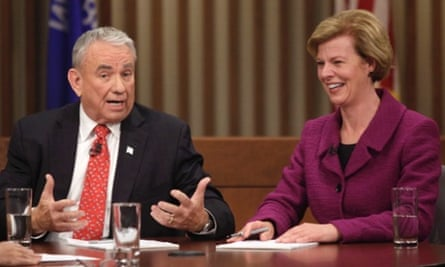 Tommy Thompson and Tammy Baldwin debate n Milwaukee.
