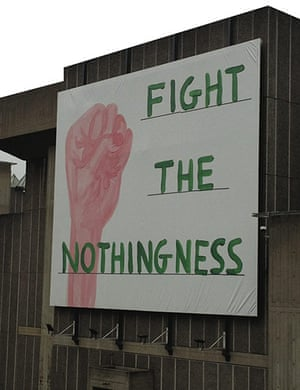 Adbusters gallery: Fight the nothingness