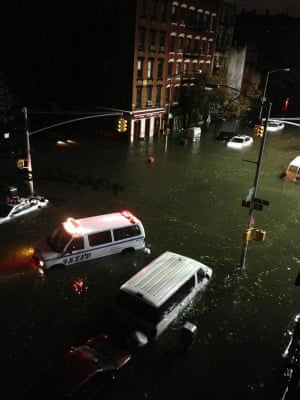 NYPD under water on East 8th St