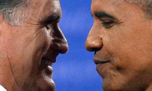 US President Barack Obama (R) shakes han