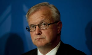 The Vice-president of the European Commission and Commissioner for Economic and Monetary Affairs and the Euro, Olli Rehn