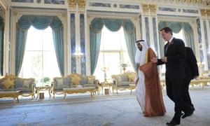 David Cameron in Abu Dhabi