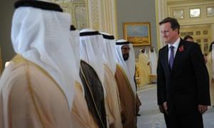 David Cameron in Abu Dhabi.