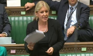 Conservative MP Nadine Dorries in the House of Commons