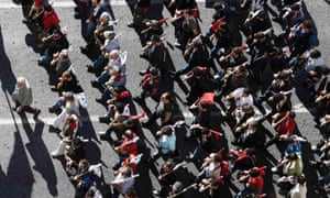 Protesters from the communist-affiliated trade union PAME march during a rally in central Athens November 6, 2012.
