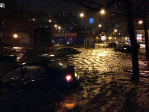 14th and Ave C submerged