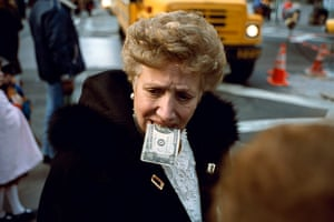 Cartier-Bresson: Unitled ($10 bill in mouth) New York City, by Jeff Mermelstein