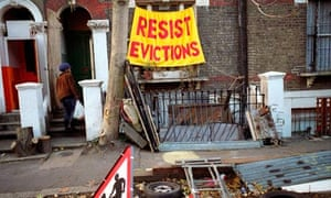 Protesting imminent eviction at Saint Agnes Place squat in Kennington South London.