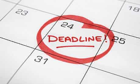 Calendar with Deadline Circled