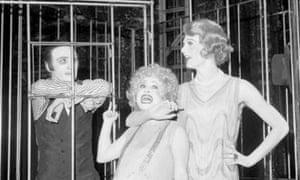 Joe Melia, left, in The Threepenny Opera