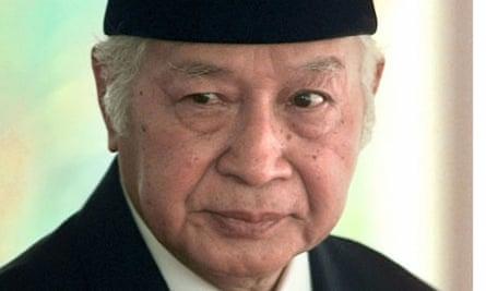 Former Indonesian president General Suharto