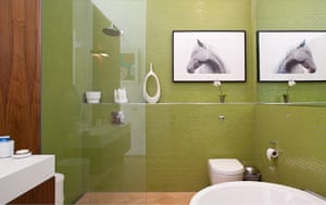 Homes: Little Venice: Bathroom with green tiles