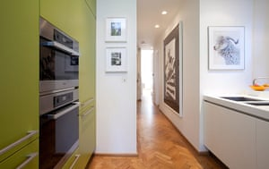 Homes: Little Venice: Kitchen with green cupboards