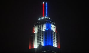 CNN lights up the Empire State Building with election results graphics