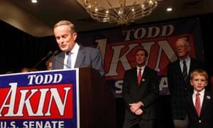 Todd Akin loses in Missouri.