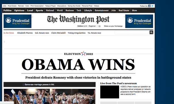 US election 2012: Obama wins second term – as it happened | World