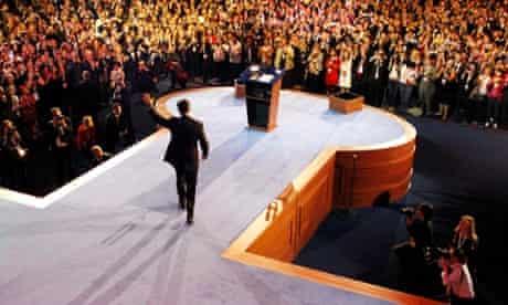 Republican presidential nominee Mitt Romney delivers his concession speech.