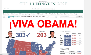 Huffington Post announces Obama's victory.