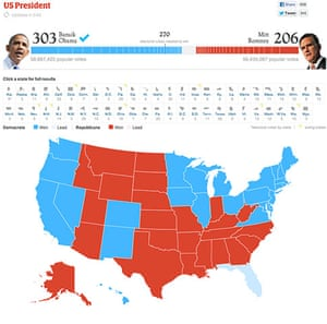 US election maps: Guardian election map