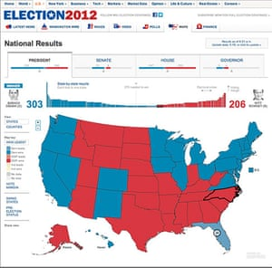 US election maps: Wall Street Journal election map