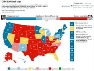 Battle Of The Us Election Maps News The Guardian - Us-election-map