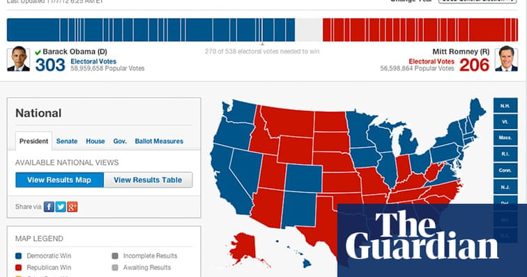 Battle of the US election maps | News | The Guardian