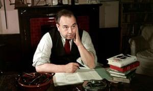 JB Priestley at his desk in 1947