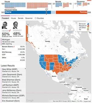 US election maps: Detroit News election map
