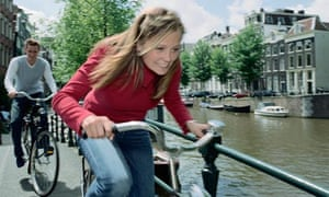 city cycling by canal