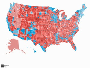 Battle Of The US Election Maps News The Guardian - Us leection map
