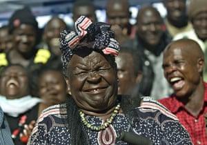 World election reaction: Kogelom Kenya: Sarah Obama, step-grandmother of Barack Obama,