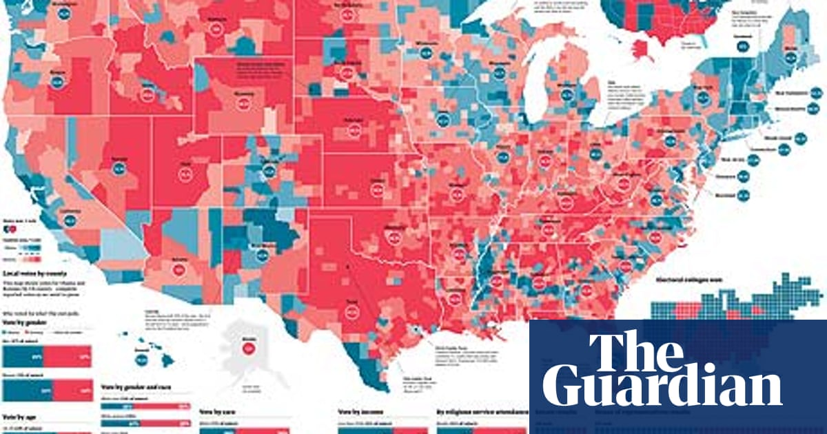 US election 2012 results visualised | News | The Guardian