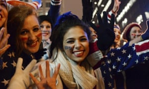 Young women celebrate in Chicago.
